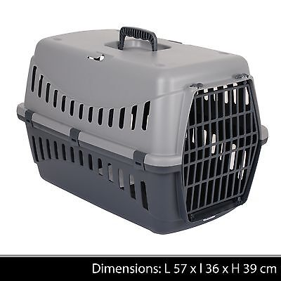 Large Pet Carrier Puppy Dog Cat Kitten Rabbit Travel Transport Cage Carry Basket