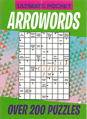 Arrowords (Arrow Words) Pocket Puzzle Book - Over 200 Puzzles - New