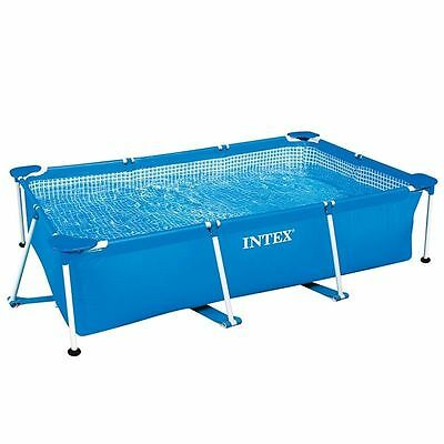 Piscina Lona Desmontable Rectangular Intex 260x160x65cm Small Frame verano niños