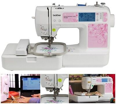 Brother PE500 Embroidery-Only Machine +USB+Automatic Needle Threader & More