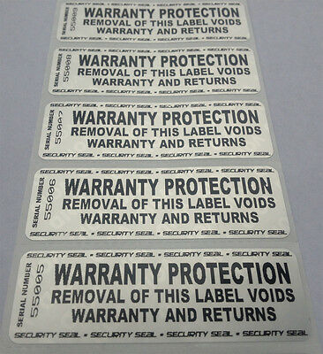 100 Warranty Void Security Labels Stickers Seals-Tamper Evident 3X1 Inch - Huge!