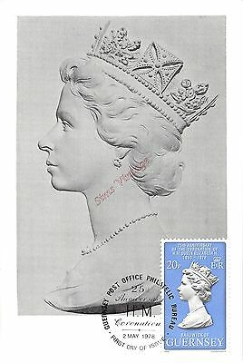Guernsey G Postcard FDC First Day Of Issue 2 May 1978 HM QEII Coronation 017