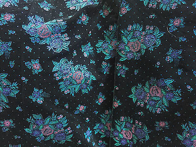 Stunning Iridescent Print on Black Velvet Fabric by Eagle   5 Yds  44""