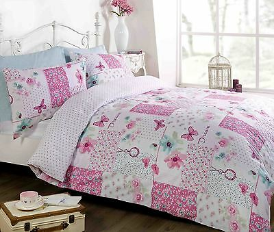 Dream Patchwork Reversible Shabby Chic Bright Duvet Cover Single Double King
