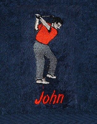 Personalised Mens Golf / Sports Towel - Embroidered