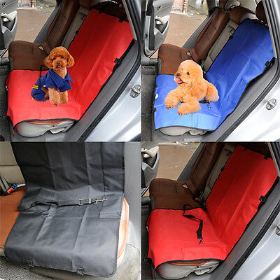 Red 2 In 1 Car Rear Back Seat Cover Waterproof Pet Dog Protector Boot Mat Liner