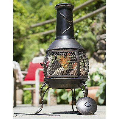 Large Outdoor Garden Fire Pit BBQ Firepit Square Table Patio Heater + Free Cover