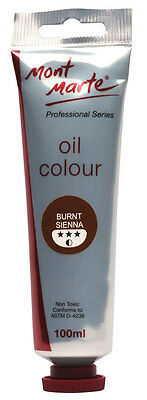 Mont Marte Oil Paint 100ml - Burnt Sienna
