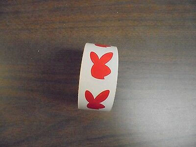(USED) Roll Of Red Playboy Bunny Tanning Stickers