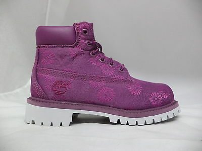 """Pre-School Timberland 6"""" Classic Floral Boots-A197D"""