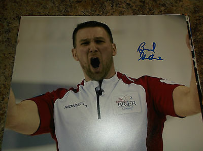 Brad Gushue Canada Curling 2006 Olympic Gold Medalist Signed 8X10 Matte Photo C