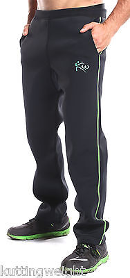 Kutting Weight Sauna Suit Weight Loss Neoprene Black & Green Pants with Pockets