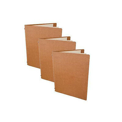 5x Deluxe Tuscan Leather Menu, Natural A5 w 4 Pockets, Restaurant / Cafe Menus