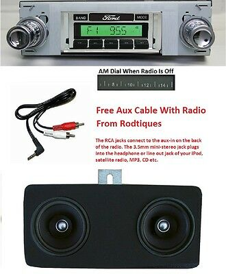 1940 Ford Car Radio + Dash Speaker + iPod Dock + USB Aux 630 II