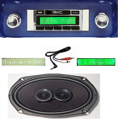 1964-1966 GMC Truck Radio + DVC Dash Speaker + iPod Dock +USB + Aux 630 II **