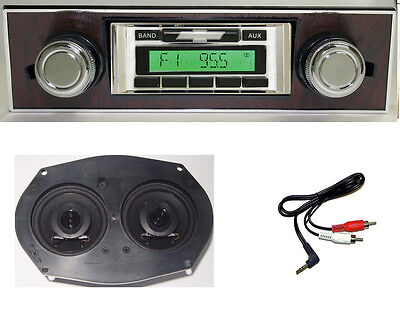 1967-1968 Radio Chevy Camaro w/ Walnut Bezel + Dash Speaker Stereo 230** w/ AC