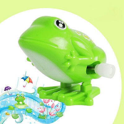 Wind Up Plastic Clockwork Cute Jumping Frog Wind up Toys Baby Developmental Toy