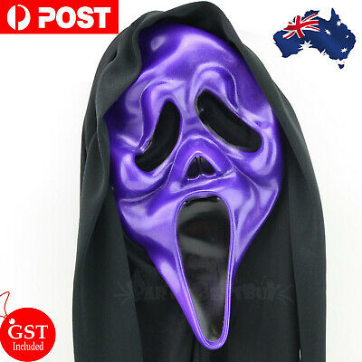 Ghost Face Costume Scream Robe + White Mask Teen Scary Halloween Creppy Party