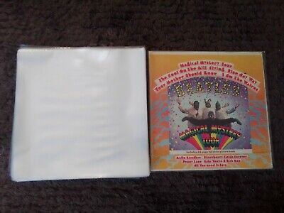 "100 New Premium Thick Lp / 12"" Plastic Outer Record Cover Sleeves For Vinyl"