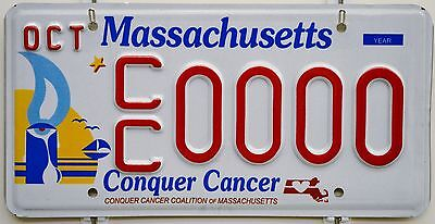 Massachusetts Conquer Cancer Sample License Plate