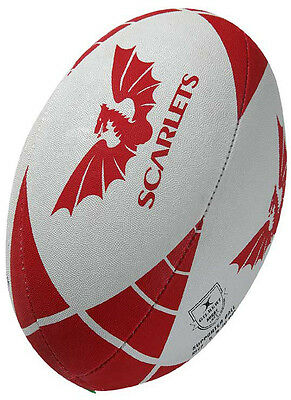 Gilbert Rugby Pro 12 League Players Practicing Scarlets Supporter Ball Size 4-5