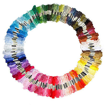150 skeins of multicolored embroidery thread for cross-stitch_x000D_ DW