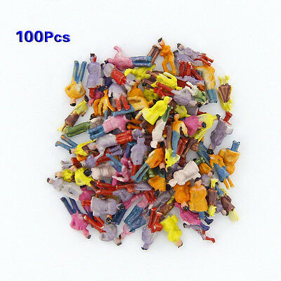 New 100pcs Painted Model Train People Figures Scale N (1 to 150) DW