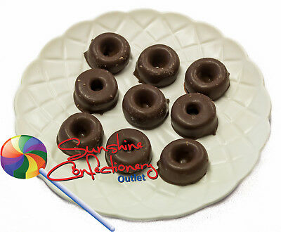 DARK CHOCOLATE ANISEED RINGS  -  370 grams - Sweets, Candy, Lollies