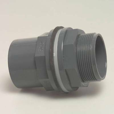High Quality PVC U Bulkhead Tank Connector Solvent Weld 20 25 32 40 50 63 mm TC