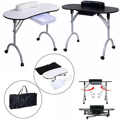 Foldable Portable Manicure Nail Art Table Desk Station Hand  And Bag Drawer