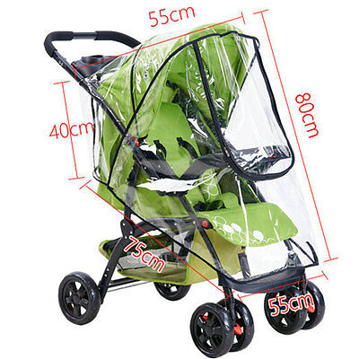 Universal Baby Stroller Rain Cover / Mosquito Net Fits Pram Car Seat Carrycot