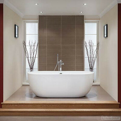 Modern White 1550mm 175 Litre Luxury Double Ended Freestanding Bath Tub