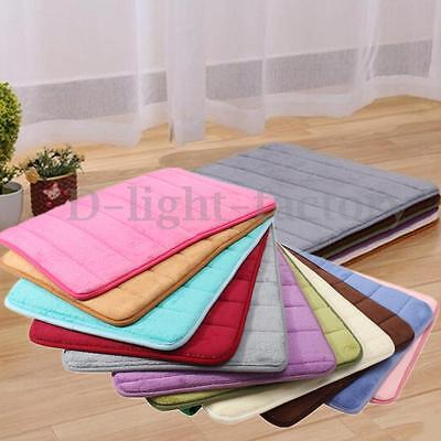 Memory Foam Mat Absorbent Slip-resistant Pad Bathroom Shower Bath Mats 11 Colors