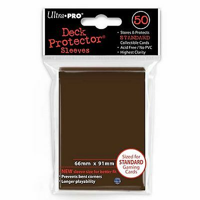 50 Bustine Protettive Ultra PRO Magic BROWN Marroni Standard Sleeves Buste Deck