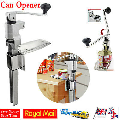 Commercial Catering Kitchen Heavy Duty Bench Clamp Mount Large Tin Can Opener