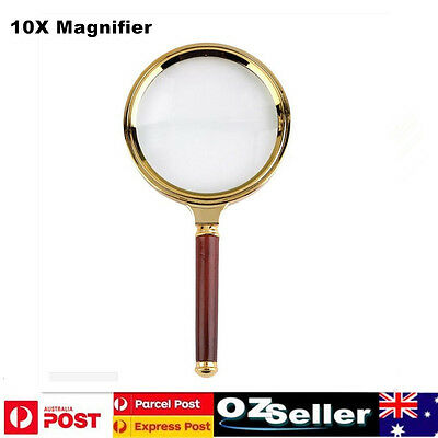 New 90mm Handheld 10X Magnifier Magnifying Glass Loupe Reading Jewelry Tool