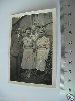 OLD Photo LOT3 1920-40s 2 Couples In the Garden Vintage Fashion 004