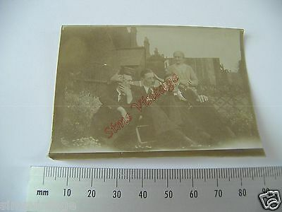 OLD Photo LOT3 1920-40s Group Of Men and Women In Garden Vintage Fashion 014