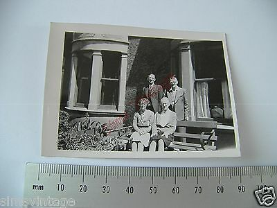 OLD Photo LOT3 1920-40s 2 Couples Sitting On Bench Vintage Fashion  020