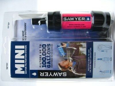 SAWYER Pink Portable Mini WATER Filter FILTRATION SYSTEM w/ 16 oz. Pouch! SP102