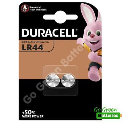 2 x Duracell LR44 1.5V Alkaline Button Cell Batteries LR 44 A76 AG13 357 hexbug