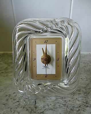 Very Nice German Walther Glass Mantel Clock