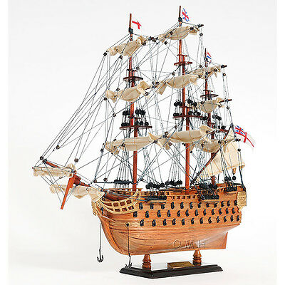 """Lord Nelson's Flagship HMS Victory Wooden Scale Model Tall Ship 20"""" Sailboat New"""