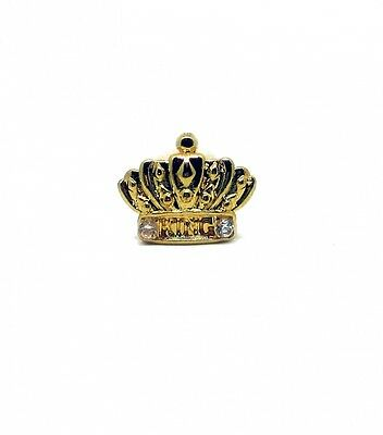 Single Grillz Crown on Tooth hiphop bling Gold plated Tooth Clip