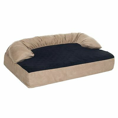 Orthopedic Memory Foam Joint Relief Bolster Dog Bed 50 x 35 Inches X Large