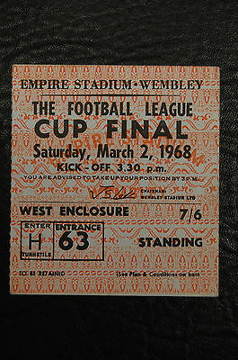 Ticket 1968 League Cup Final  Arsenal V Leeds United