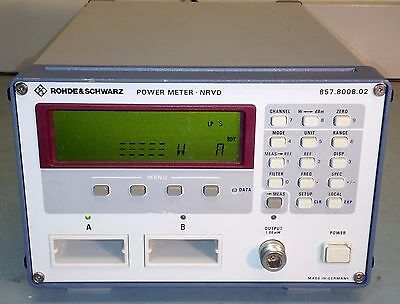 Rohde & Schwarz NRVD Dual Channel Power Meter ~ FREE SHIPPING!