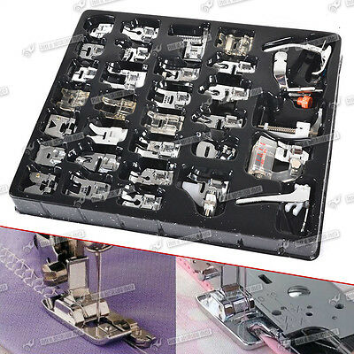 32pc Domestic Sewing Machine Presser Foot Feet Kit Set For Brother Singer Janome