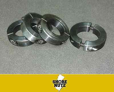 "(4) 1"" Double Split Steel New Clamping Shaft Collar Black Oxide  Sc100D"