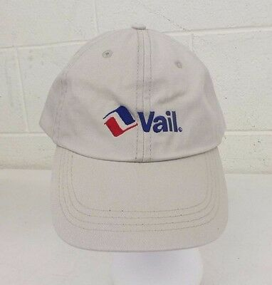 9a78339ed Vail Mountain Resort Light-Tan 100% Cotton Adjustable Size Baseball Cap NEW